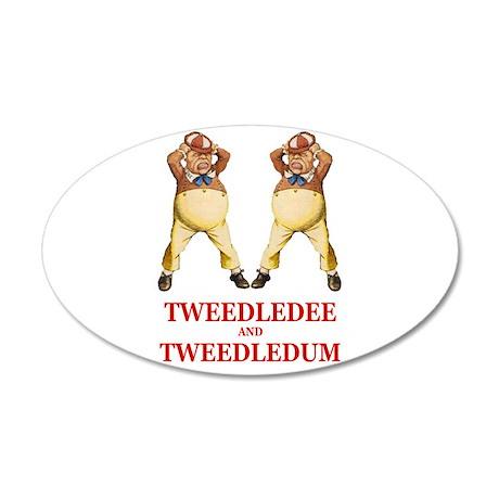 Tweedledee and Tweedledum 38.5 x 24.5 Oval Wall Pe