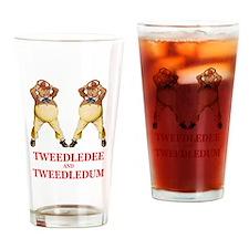 Tweedledee and Tweedledum Drinking Glass