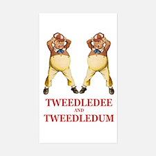 Tweedledee and Tweedledum Decal