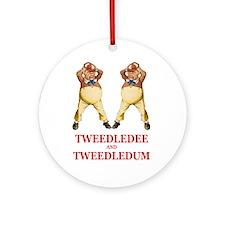 Tweedledee and Tweedledum Ornament (Round)