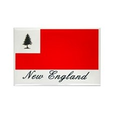Cute New england flag Rectangle Magnet