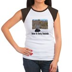 Ski Shooting Women's Cap Sleeve T-Shirt