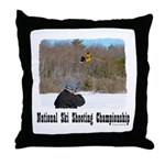 Ski Shooting Throw Pillow