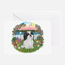 Garden-ShihTzu#22 Greeting Card
