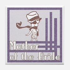 Deco Mother of the Bride Tile Coaster