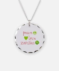Peace, Love and Zombies Necklace