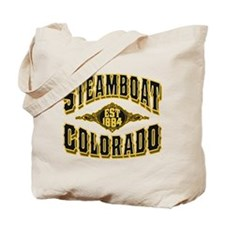 Steamboat Colorado Old Gold Tote Bag