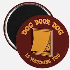 """Dog Door Dog 2.25"""" Magnet (100 pack)"""