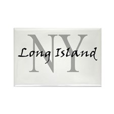 Long Island thru NY Rectangle Magnet