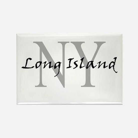 Long Island thru NY Rectangle Magnet