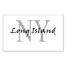 Long Island thru NY Rectangle Decal