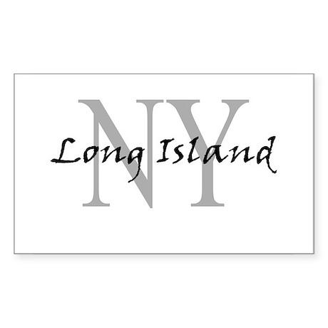 Long Island thru NY Rectangle Sticker