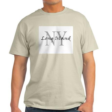 Long Island thru NY Ash Grey T-Shirt