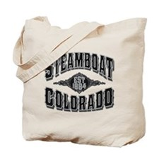 Steamboat Colorado Black Silver Tote Bag