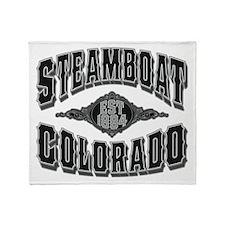 Steamboat Colorado Black Silver Throw Blanket
