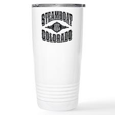 Steamboat Colorado Black Silver Travel Mug