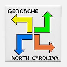 Geocache North Carolina Tile Coaster