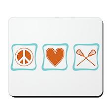 Peace, Love and Lacrosse Mousepad