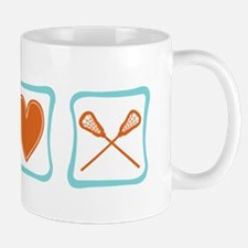 Peace, Love and Lacrosse Mug