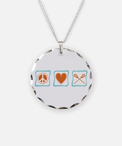 Peace, Love and Lacrosse Necklace