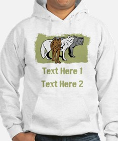 Wolves and Text. Hoodie