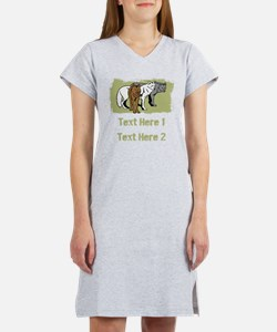Wolves and Text. Women's Nightshirt