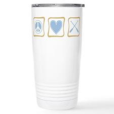 Peace, Love and Rowing Travel Mug