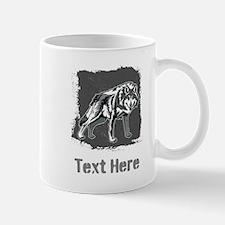 Gray Wolf and Writing. Mug