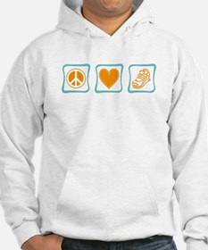 Peace, Love and Running Hoodie