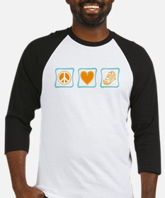 Peace, Love and Running Baseball Jersey