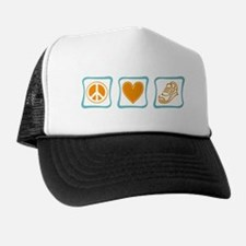 Peace, Love and Running Trucker Hat
