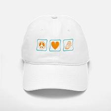 Peace, Love and Running Baseball Baseball Cap