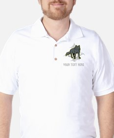 Cool Wolf and Gray Text. T-Shirt