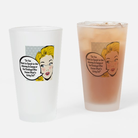 Paralegal In Charge [Toon Edi Drinking Glass