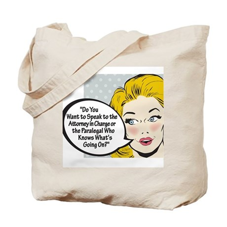 Paralegal In Charge [Toon Edi Tote Bag