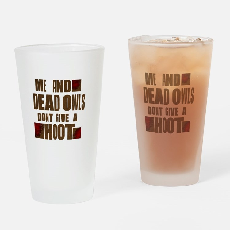 RaYLan dEad OwLS Drinking Glass