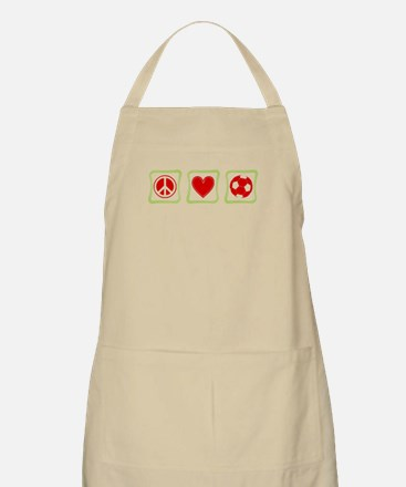 Peace, Love and Soccer Apron