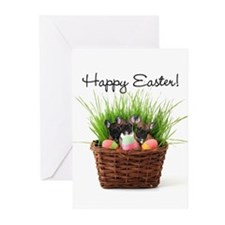Easter french bulldogs Greeting Cards (Pk of 20)