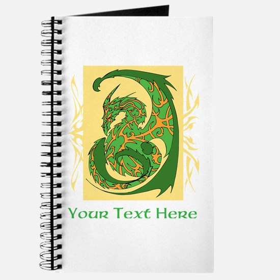 Fancy Dragon and Custom Text Journal