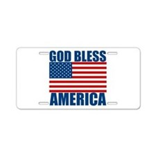 God Bless America Aluminum License Plate