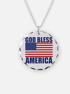 God Bless America Necklace