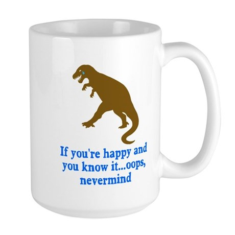 T Rex Can't Clap Hands Large Mug