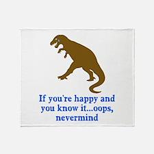 T Rex Can't Clap Hands Throw Blanket