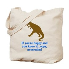 T Rex Can't Clap Hands Tote Bag