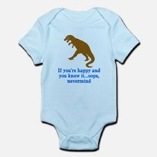 T Rex Can't Clap Hands Infant Bodysuit