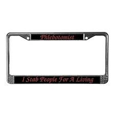 Phlebotomist License Plate Frame