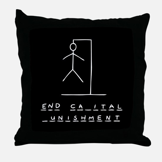 Ironic Hangman Throw Pillow
