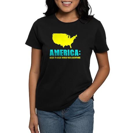 America World War Champions Women's Dark T-Shirt