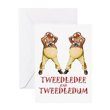 Tweedledee and Tweedledum Greeting Card