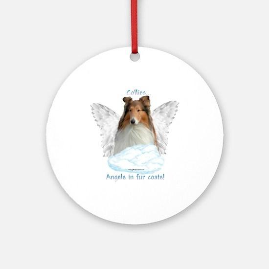Collie 5 Ornament (Round)